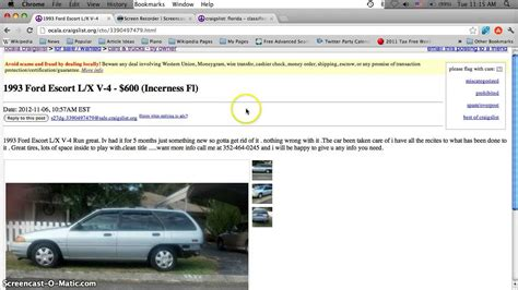 Craigslist Port Fl Cars by Craigslist Ocala Florida Used Cars And Trucks Cheap For Sale By Owner Offers 3500