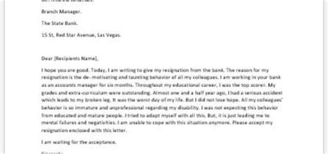 Resignation Letter With Complaint Resignation Letter Because Of Health Reasons Writeletter2