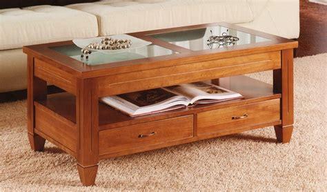 mesa centro con cajones mesa de centro elevable con cajones