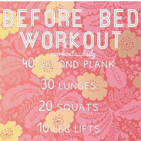 exercise before bed before bed workout routine pinterest crafts
