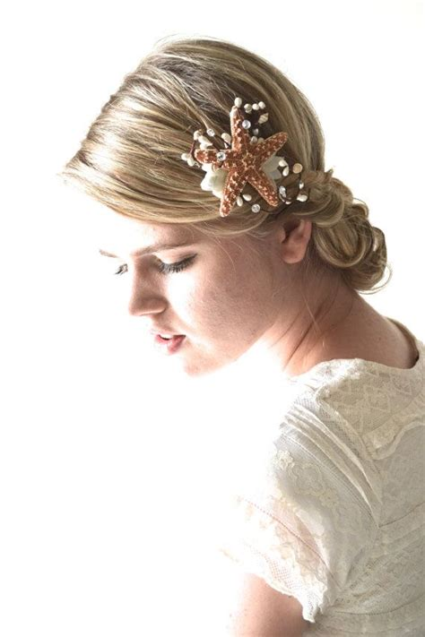 starfish hair accessories by hair comes the bride starfish hair accessory beach wedding hair starfish hair