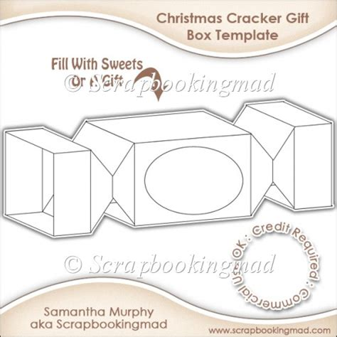 cracker template printable cracker gift box template cu ok 163 3 50