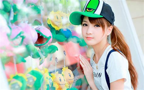 wallpaper girl cap 清纯可爱美女高清图片桌面壁纸 桌面壁纸下载 四季壁纸
