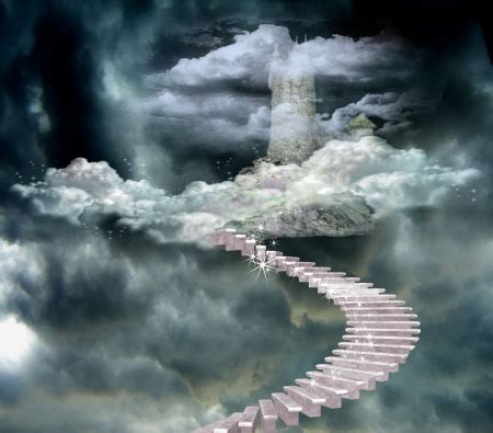 Steps To Heaven steps to heaven castle abstract background