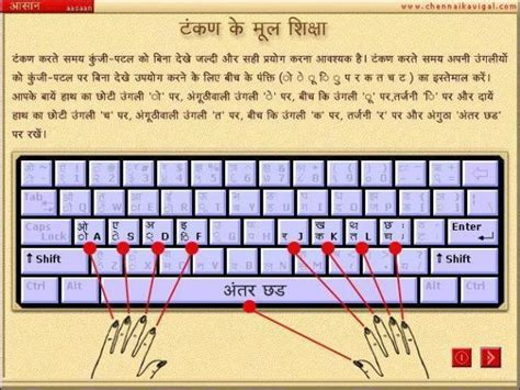 keyboard tutorial in hindi aasaan hindi typing tutor free download and software