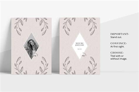 Floral Designer Cover Letter by Floral Resume Cv Cover Letter Title Design Bundles