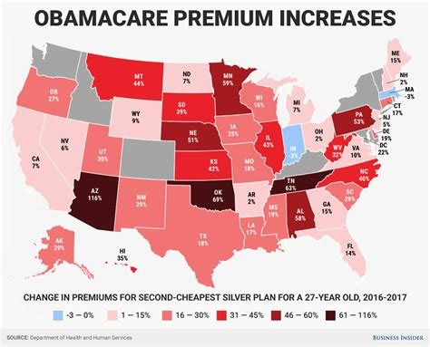 Pers Premium Care here s how much obamacare premiums are going up in every