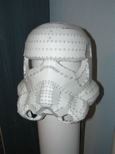 Stormtrooper Papercraft Helmet - pepakura trooper by distressfasirt on deviantart