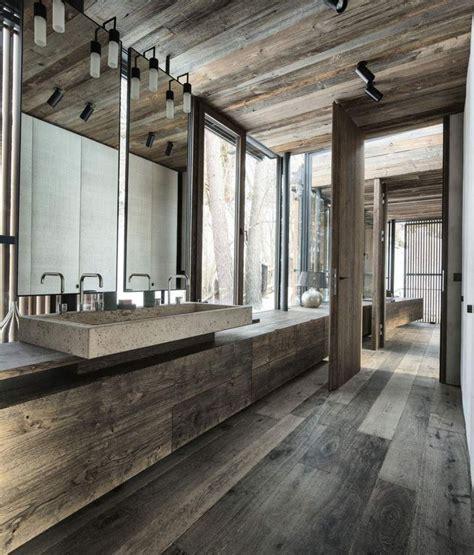 rustic bathroom flooring rustic modern bathroom design ideas maison valentina blog