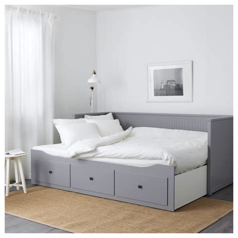 hemnes bed hemnes day bed frame with 3 drawers grey 80x200 cm ikea