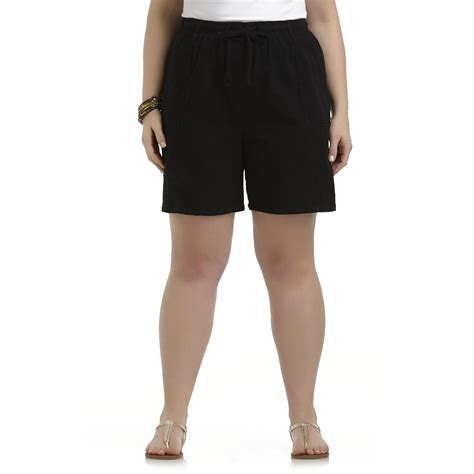 comfort waist shorts laura scott women s plus casual comfort waist shorts