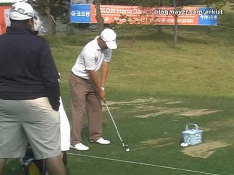 Anthony Kim Slow Motion Iron Golf Swing From Driving Range
