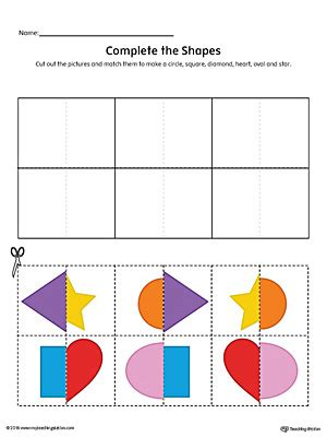 printable shapes cut and paste common worksheets 187 printable oval shape preschool and