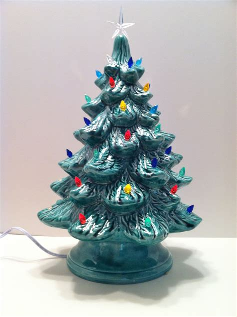 ceramic christmas tree with lights 16 inches by