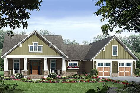 square feet of 3 car garage craftsman style house plan 3 beds 2 baths 2067 sq ft