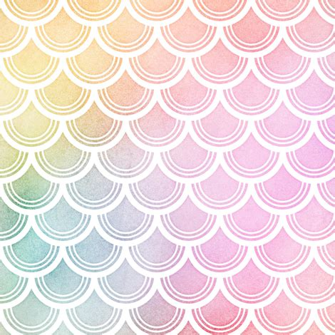 pastel pattern fabric pastel rainbow watercolor scale pattern 3 fabric