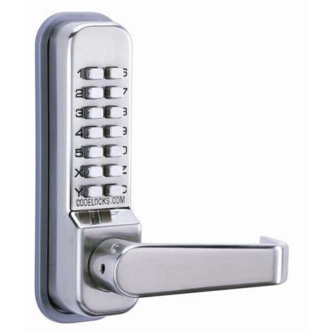 sliding door 400 series locks codelocks cl400 series mechanical lock door lever