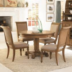 5 piece round pedestal dining table amp side chairs with