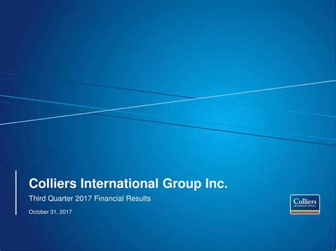 Colliers International by Colliers International Inc 2017 Q3 Results