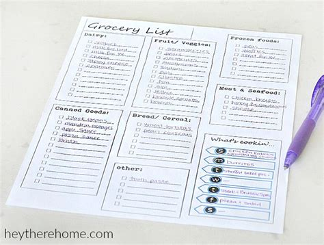 Printable Meal Planning Templates To Simplify Your Life Meal Planning Template With Grocery List