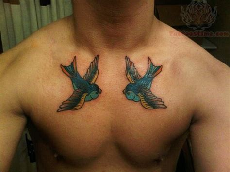 swallow chest tattoo designs birds tattoos for you bird on foot