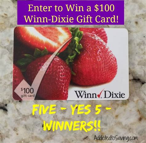 Winn Dixie Gift Cards - giving away five 100 winn dixie gift cards and save big help girls build self