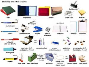 Office Supplies Definition Stationery Noun Definition Pictures Pronunciation And