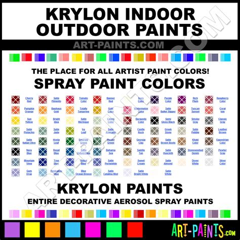pin krylon indoor outdoor paint decorative colors color on
