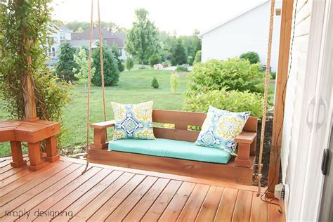 extra deep porch swing 11 free porch swing plans to build at home