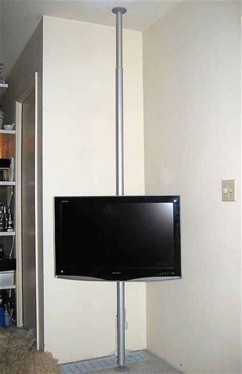 Kitchen Seating Ideas hang your tv on a pole ikea hackers