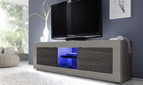 Tv Led Mobil porta tv square a31 mobile per tv soggiorno moderno con led
