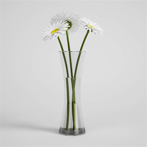 Daisies In A Vase by Daisies In Vase 24 Cgaxis 3d Modelscgaxis 3d Models