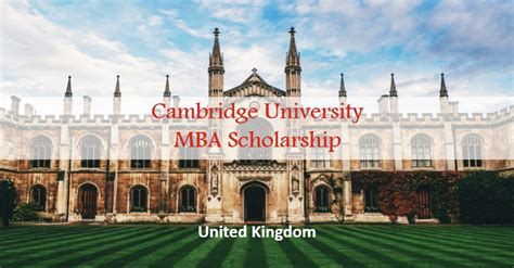 Mba Scholarship In United States by Cambridge Mba Scholarship In Uk Opportunity Wow