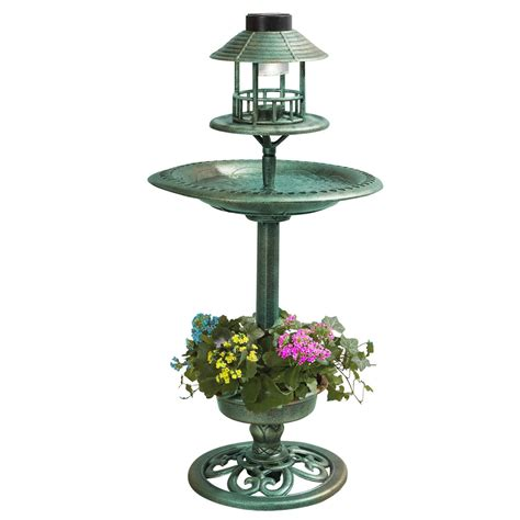 solar light bird feeder bird hotel feeder bath with solar light garden