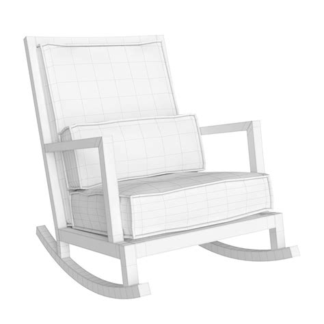 Crate And Barrel Rocking Chair by Crate And Barrel Jeremiah Fabric Back Rocking Chair 3d Model Max Obj Fbx Mtl Cgtrader