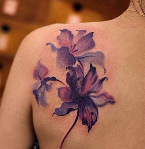 african violet tattoo designs the 25 best violet flower tattoos ideas on