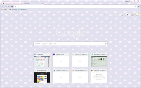 google chrome themes girly daydreamer google chrome theme by sleepy stardust on