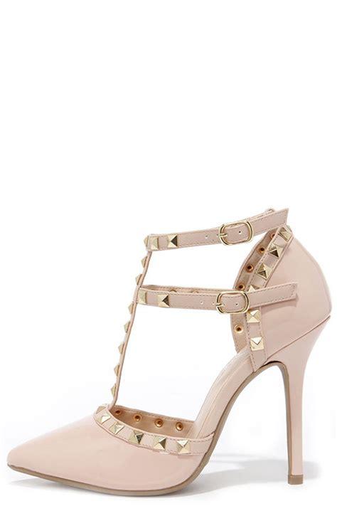 Best Seller Heels T Hak Black shoes t heels studded shoes 35 00