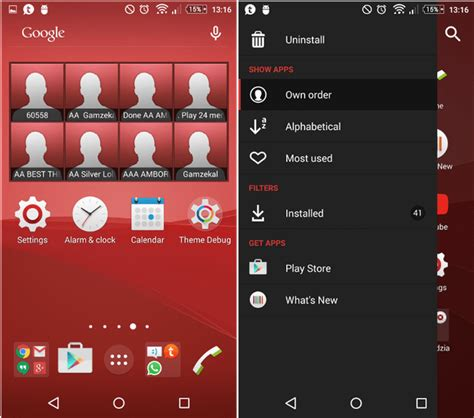theme creator xperia z xperia z3 plus red theme gizmo bolt exposing
