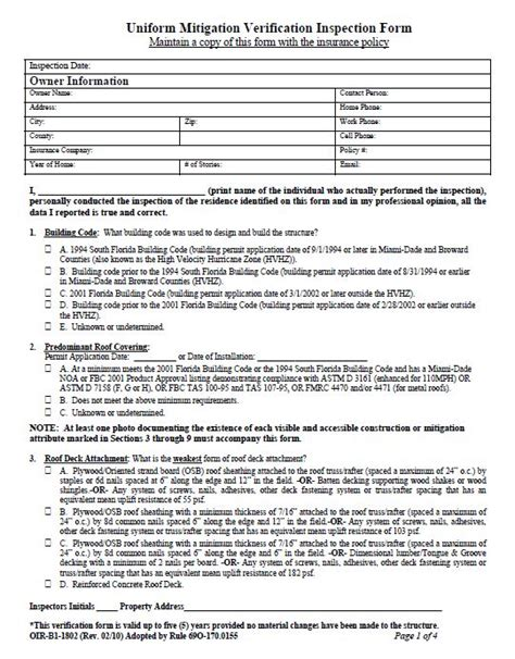 Insurance Mitigation Letter homeowners insurance quote information form 44billionlater