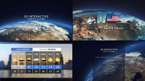 Videohive 3d Interactive Earth Globe Free After Effects Template Videohive Projects 3d Globe After Effects Template