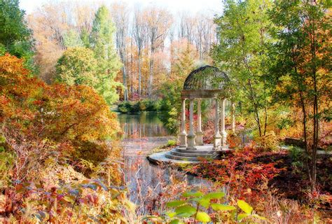 autumn in longwood gardens digital art by trina ansel