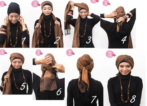 tutorial hijab turban dengan jilbab paris hijabers tutorial sakinah tutorial hijab paris