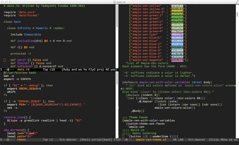 emacs24 color themes github mjwall le zen ample zen theme for emacs 24