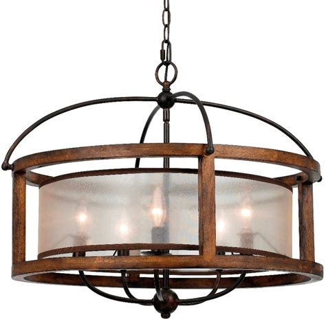 wood and iron chandelier iron wood sheer shade chandelier 26 quot fx 3536 5