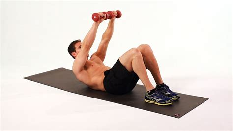 how to do a arm weighted crunch ab workout