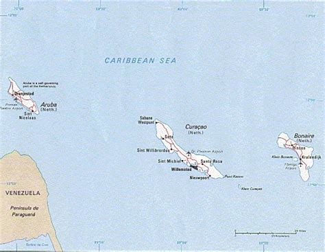 Abc Home Decor lesser antilles islands map