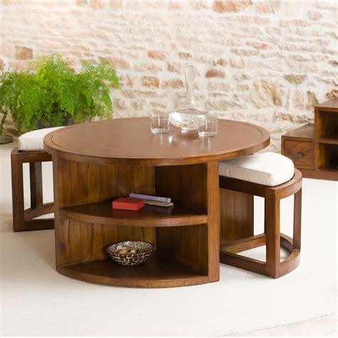 table basse salon ronde bois ezooq