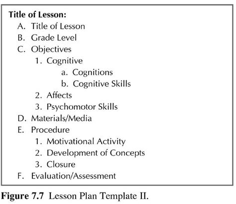 best photos of exles of lesson plan formats sle