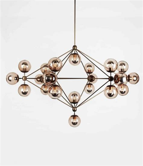 Roll And Hill Lighting by Roll Hill Modo Chandelier 6 Sided 21 Globes